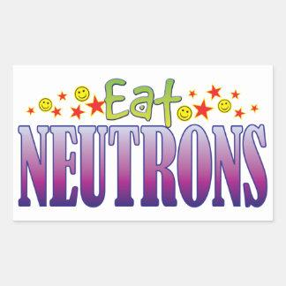 Neutrons Eat Rectangular Sticker