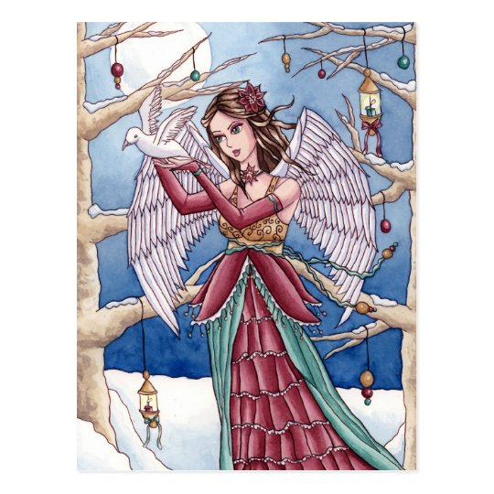 Neva - Christmas Angel Postcard