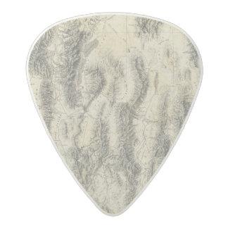 Nevada and Utah Acetal Guitar Pick