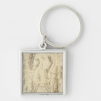 Nevada and Utah Key Ring