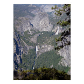 Nevada and Vernal Falls (Poster) Poster