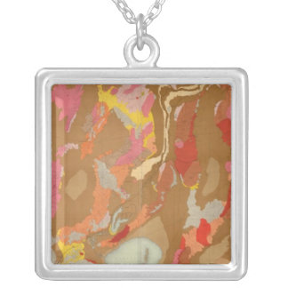 Nevada Basin Geological Silver Plated Necklace