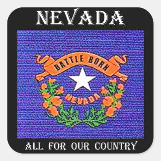 Nevada Battle Born Square Sticker