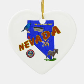 Nevada Christmas Ornament