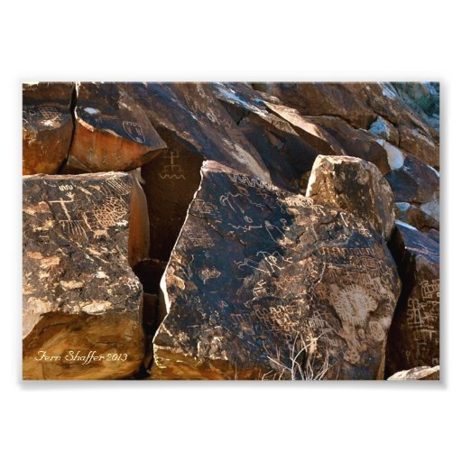 Nevada Christmas Tree Pass Petroglyphs Photograph