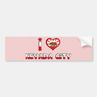 Nevada City, CA Car Bumper Sticker