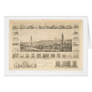 Nevada City, CA. Panoramic Map 1856 (1184A) Card