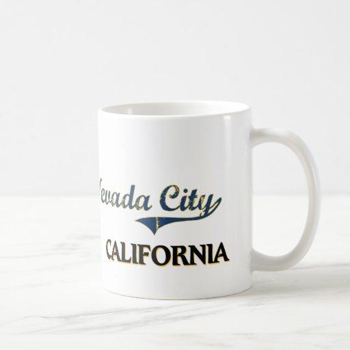 Nevada City California City Classic Basic White Mug