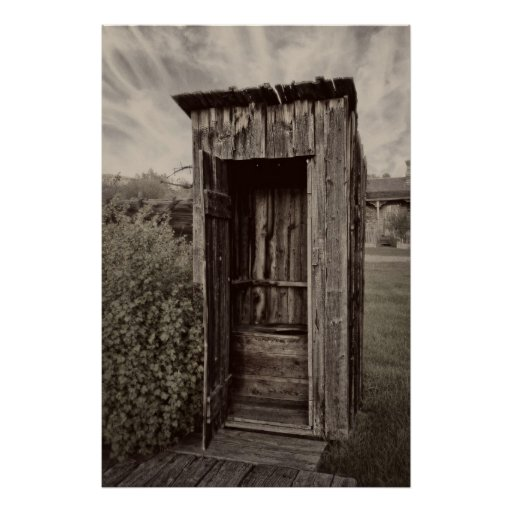 Nevada City Ghost Town Outhouse - Montana Print