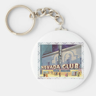 Nevada Club Reno Basic Round Button Key Ring