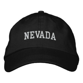 Nevada Embroidered Adjustable Cap Black Embroidered Hats