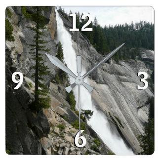 Nevada Falls at Yosemite National Park Wallclocks