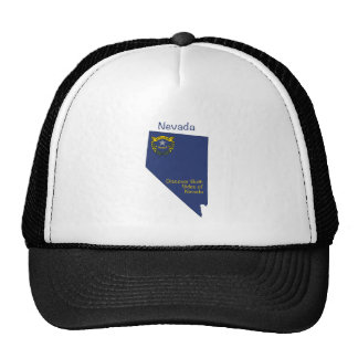 Nevada Flag and Map Cap
