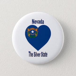 Nevada Flag Heart 6 Cm Round Badge