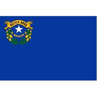 Nevada Flag Keychain Cut Out