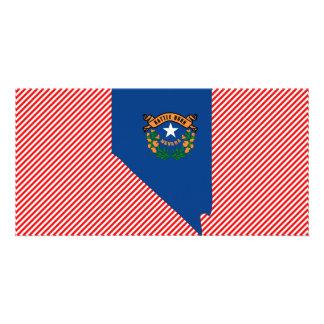 Nevada Flag Map Card