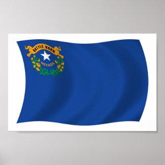 Nevada Flag Poster Print