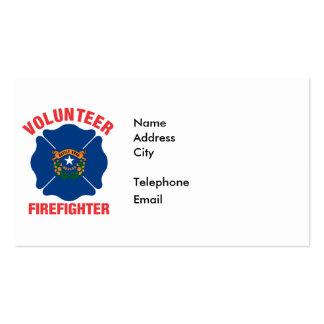 Nevada Flag Volunteer Firefighter Cross Business Card Template