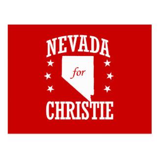 NEVADA FOR CHRISTIE POSTCARD