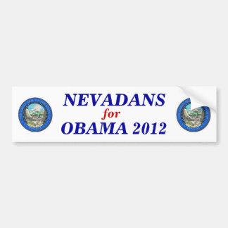 Nevada for Obama 2012 sticker Bumper Sticker