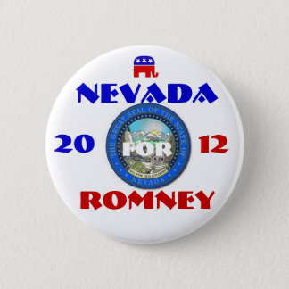 Nevada for Romney 2012 6 Cm Round Badge