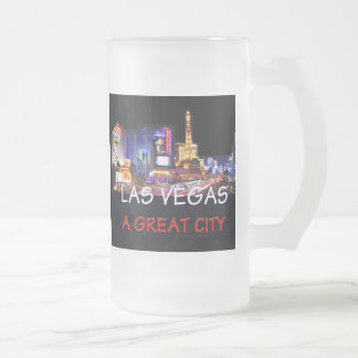 NEVADA FROSTED GLASS BEER MUG