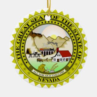Nevada Great Seal Round Ceramic Decoration