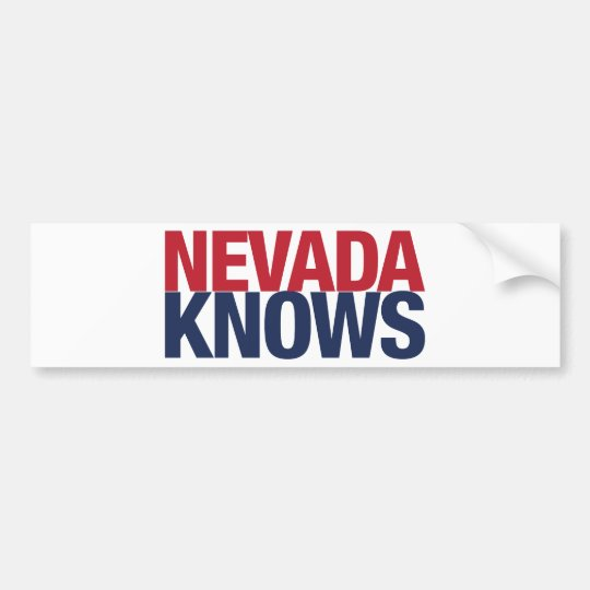 Nevada Knows Bumper Sticker