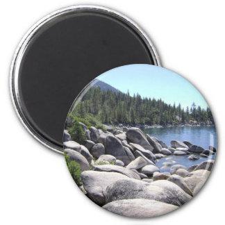 Nevada: Lake Tahoe 6 Cm Round Magnet