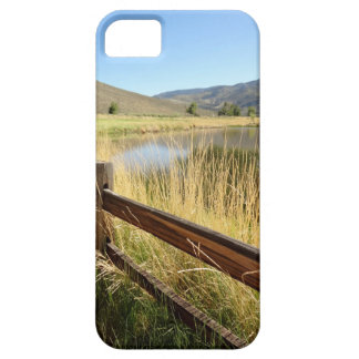 Nevada landscape with wood fence, lake, sky. iPhone 5 covers
