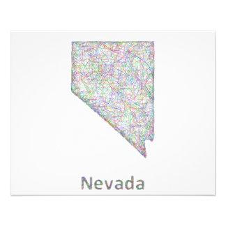 Nevada map 11.5 cm x 14 cm flyer