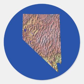 Nevada Map Sticker