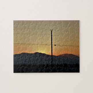 Nevada Mountain Sunset Jigsaw Puzzle
