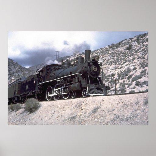 Nevada Northern 4-6-0 Poster