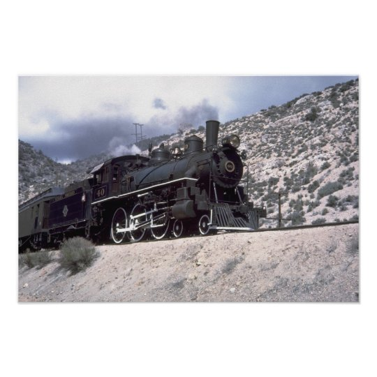 Nevada Northern 4-6-0 Poster