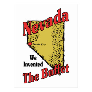 Nevada NV US Motto ~ We Invented The Buffet Post Cards