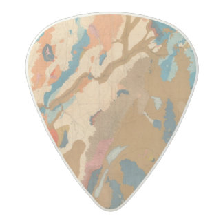 Nevada Plateau Geological Acetal Guitar Pick