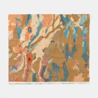 Nevada Plateau Geological Fleece Blanket