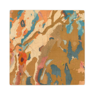 Nevada Plateau Geological Wood Coaster