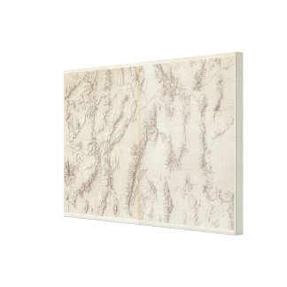 Nevada Plateau Topographical Canvas Print