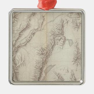 Nevada Plateau Topographical Christmas Ornament