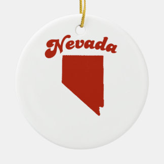 NEVADA Red State Christmas Tree Ornaments