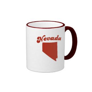 NEVADA Red State Ringer Coffee Mug