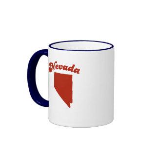 NEVADA Red State Ringer Mug