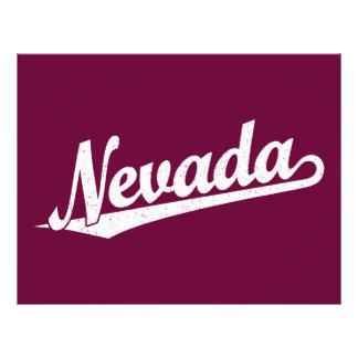 Nevada script logo in white distressed full color flyer