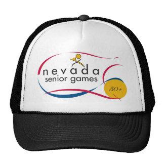 NEVADA SENIOR GAMES LOGOS ON EVERYTHING CAP