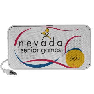 NEVADA SENIOR GAMES LOGOS ON EVERYTHING MINI SPEAKER