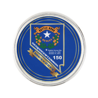 Nevada Sesquicentennial 150th anniversary Lapel Pin