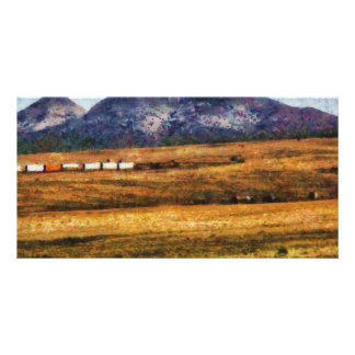 Nevada - Southwestern Cargo Train Customized Photo Card