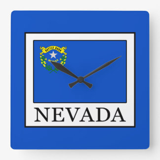 Nevada Square Wall Clock